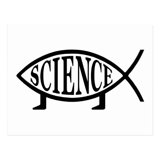 Science Fish Postcard