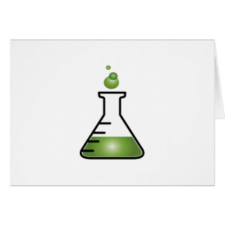Science Flask Greeting Cards
