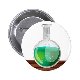 science Flask Pinback Button