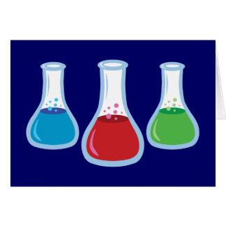 Science Flasks Greeting Card
