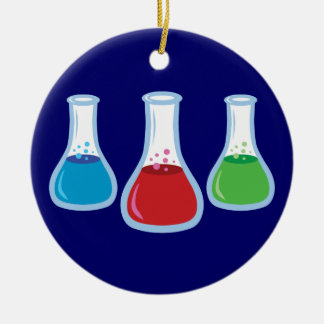 Science Flasks Christmas Tree Ornament