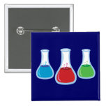 Science Flasks Pinback Buttons