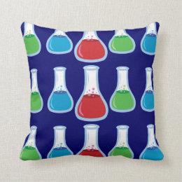 Science Flasks Throw Pillow