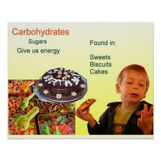 Science, food, Carbohydrates sugar Poster