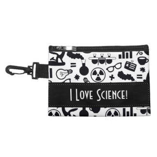Science for Scientist Pattern (Black and White) Accessory Bag