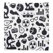 Science for Scientist Pattern (Black and White) Bandana
