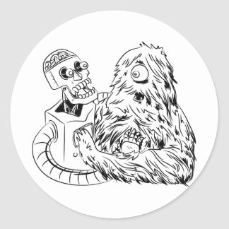 Science Friction Classic Round Sticker