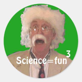 Science = Fun 3 Classic Round Sticker