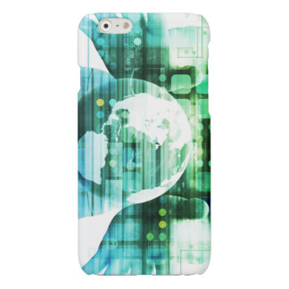 Science Futuristic Technology as a Concept Art Glossy iPhone 6 Case