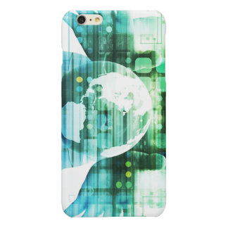 Science Futuristic Technology as a Concept Art Glossy iPhone 6 Plus Case