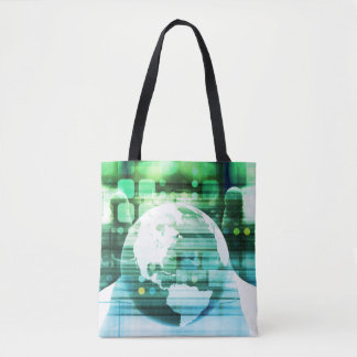 Science Futuristic Technology as a Concept Art Tote Bag
