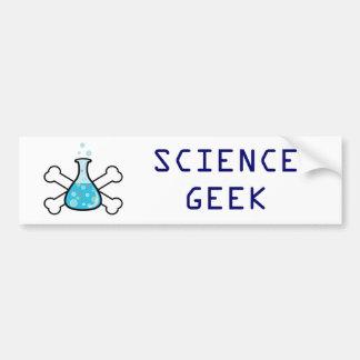 science geek beaker and crossbones design bumper sticker