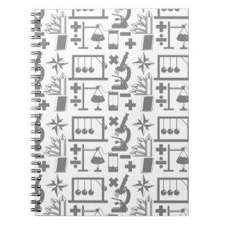 Science Geek Nerd Pattern Notebook