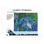 Science, Geography, Location of Glaciers Post Cards