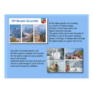 Science Geography Mt Blanc Glacier Postcard