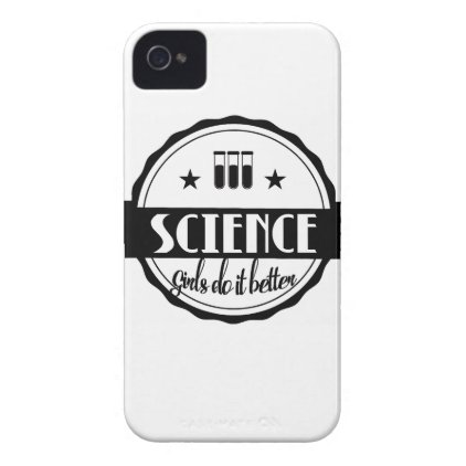 Science Girls do it Better Case-Mate iPhone 4 Case