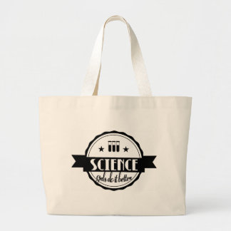 Science Girls do it Better Large Tote Bag
