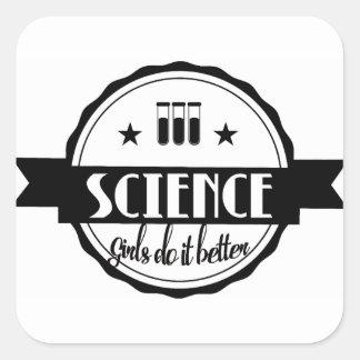 Science Girls do it Better Square Sticker