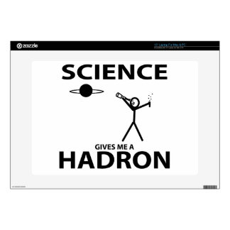 "Science Gives Me a Hadron Stick Figure Nerd Gear 15"" Laptop Decals"