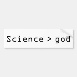 Science > god bumper sticker