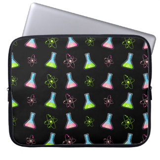 Science Green Pink Flask Laptop Computer Sleeve