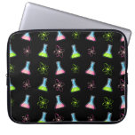 Science Green Pink Flask Laptop Sleeve