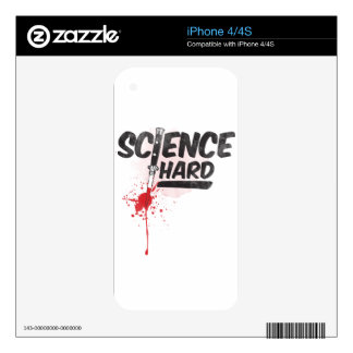 Science Hard! Decals For iPhone 4