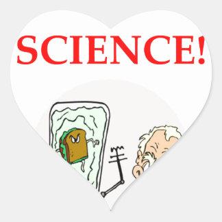 science heart sticker