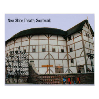 Science, History, New Globe Theatre Poster
