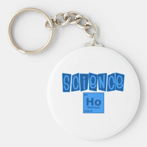 Science Ho Basic Round Button Keychain