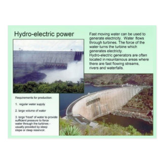 Science,  Hydro electric power Postcard