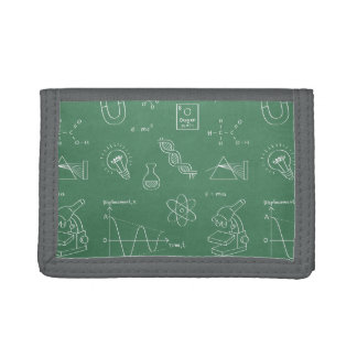 Science Icons Doodles Pattern Kids Wallet