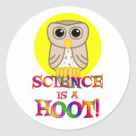 Science is a Hoot Classic Round Sticker