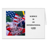 Science Is An International Game (Flasks Flags) Greeting Cards