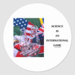 Science Is An International Game (Flasks Flags) Stickers
