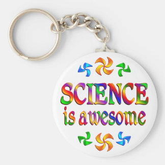 Science is Awesome Basic Round Button Keychain