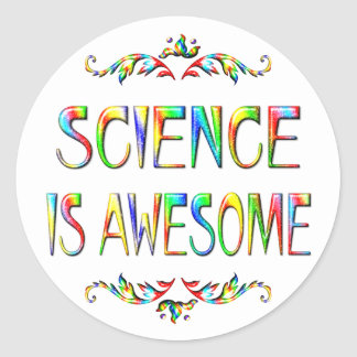 Science is Awesome Round Stickers