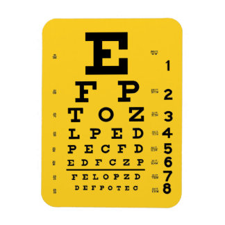 Science is Cool: Retro Eye Chart Ophthalmology Magnet