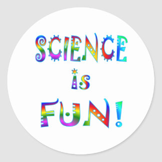 Science is Fun Classic Round Sticker