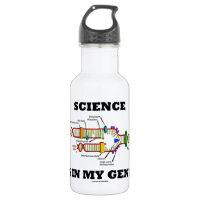 Science Is In My Genes (DNA Replication) 18oz Water Bottle