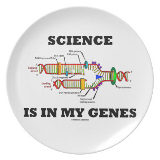Science Is In My Genes (DNA Replication) Melamine Plate