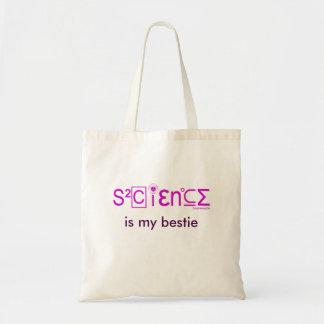 SCIENCE IS MY BESTIE tote bag