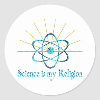 Science is My Religion Classic Round Sticker