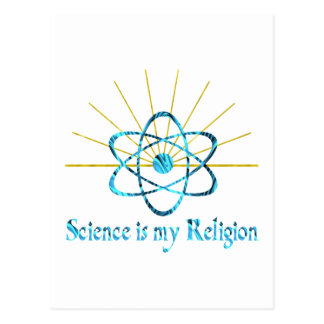 Science is My Religion Postcard