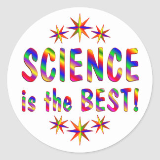 Science is the Best Classic Round Sticker