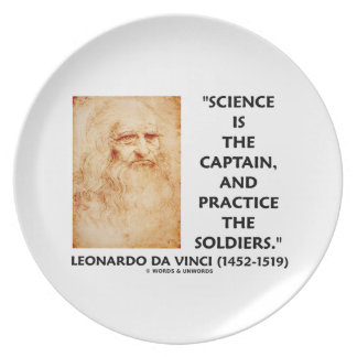 Science Is The Captain Practice Soldiers da Vinci Dinner Plate