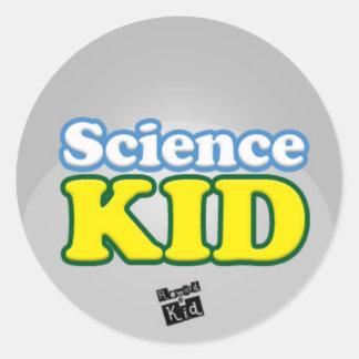 Science kid (set of 20) classic round sticker