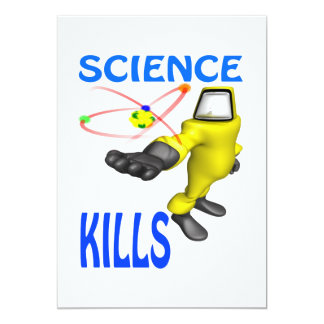 Science Kills 5x7 Paper Invitation Card