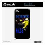 Science Kills Decal For The iPhone 4