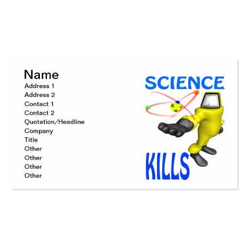 Science Kills Double-Sided Standard Business Cards (Pack Of 100)